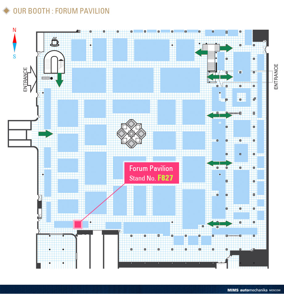 2018 MIMS automechanika MOSCOW - Miral Auto Camp Corp - Map