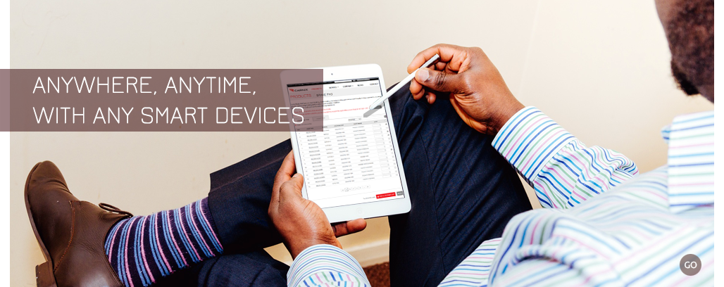 Easy to use CARNIX web service anywhere, anytime, with any smart devices.